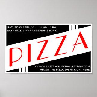 vintage de la pizza póster