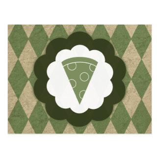 vintage de la pizza tarjetas postales