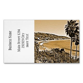 vintage de la playa de Laguna Tarjetas De Visita Magnéticas (paquete De 25)