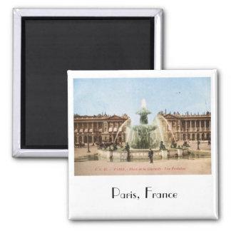 Vintage de la plaza de la Concordia, París, Imán Cuadrado