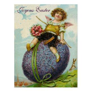 Vintage de la postal del huevo de Pascua de los ro