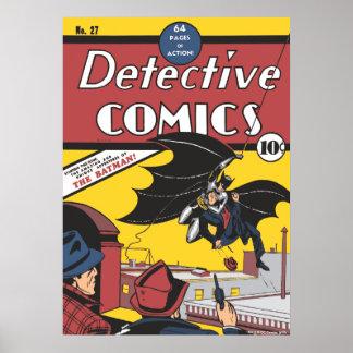 Vintage de la primera aparición de Batman Póster