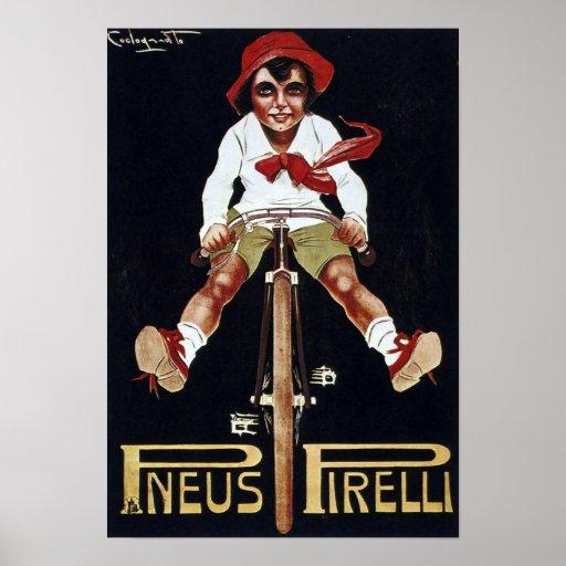 Vintage de la publicidad de la bicicleta impresiones