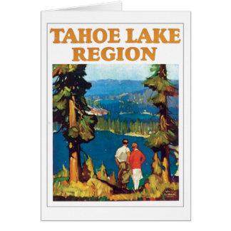 Vintage de la región del lago Tahoe Tarjeta De Felicitación