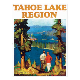 Vintage de la región del lago Tahoe Tarjeta Postal