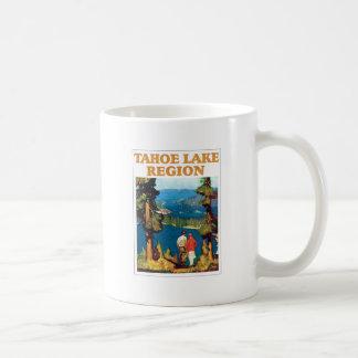 Vintage de la región del lago Tahoe Tazas De Café