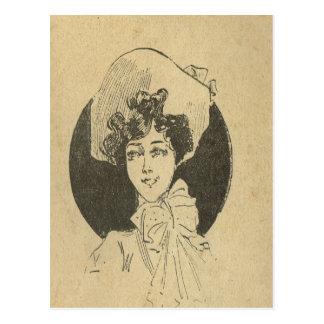 Vintage de la reproducción, expectativa postales