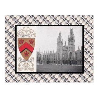 Vintage de la reproducción, toda la universidad tarjeta postal