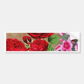 Vintage de la rosaleda pegatina para auto