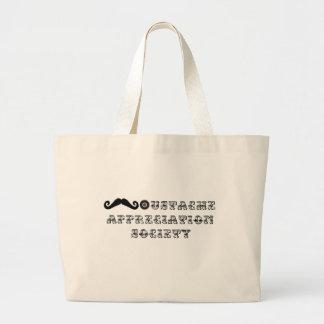 Vintage de la sociedad del aprecio del bigote bolsas