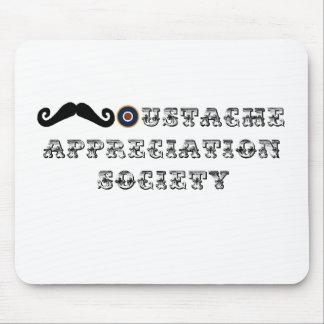 Vintage de la sociedad del aprecio del bigote alfombrillas de ratones