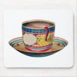 vintage de la taza de té alfombrillas de ratón