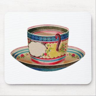 vintage de la taza de té mousepad