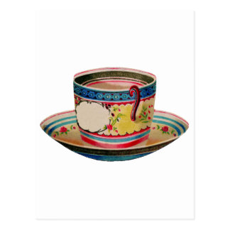vintage de la taza de té tarjeta postal