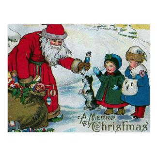 """""""Vintage de las Felices Navidad"""" Postales"""