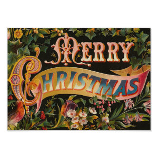 """Vintage """"de las Felices Navidad"""" Póster"""