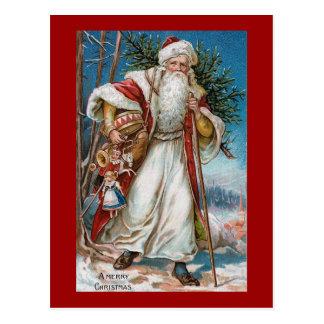 """""""Vintage de las Felices Navidad"""" Tarjeta Postal"""