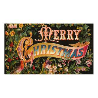 """Vintage """"de las Felices Navidad"""" Tarjetas De Visita"""