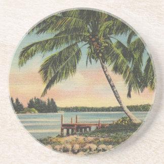 vintage de las palmeras posavasos personalizados