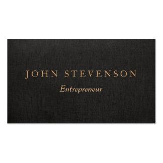 Vintage de lino negro profesional de la mirada del tarjetas de visita