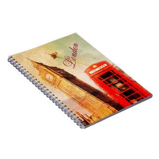 Vintage de Londres Cuaderno