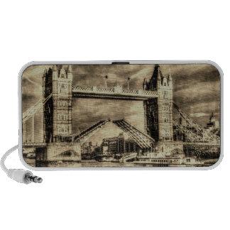 Vintage de Londres del puente de la torre Mp3 Altavoces