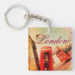 Vintage de Londres Llavero