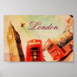Vintage de Londres Poster