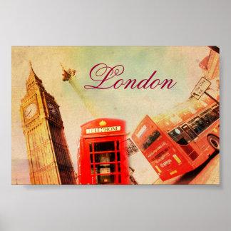 Vintage de Londres Póster