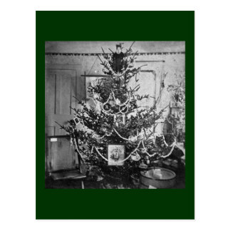 Vintage de los 1800s del Victorian del árbol de Postal