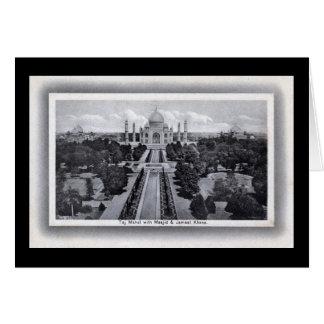 Vintage de los años 20 del Taj Mahal la India Tarjeta De Felicitación