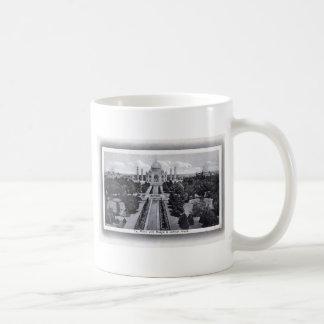 Vintage de los años 20 del Taj Mahal la India Tazas De Café