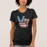 Vintage de los E.E.U.U. del signo de la paz Camisetas