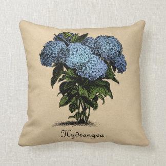 Vintage de los Hydrangeas botánico Almohadas