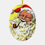 Vintage de los ornamentos que fuma el navidad de P Ornamento De Reyes Magos