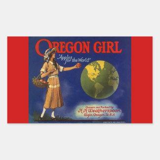 Vintage de los pegatinas que hace publicidad de rectangular altavoces