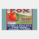 Vintage de los pegatinas que hace publicidad de pegatina rectangular