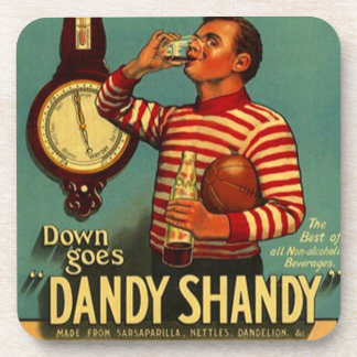 Vintage de los prácticos de costa que hace publici posavasos de bebida