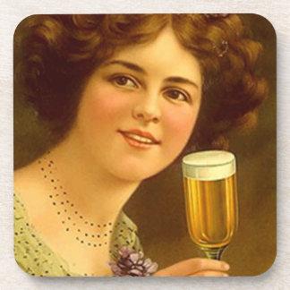 Vintage de los prácticos de costa que tuesta la ce posavasos de bebida
