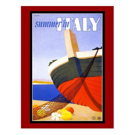 Vintage de los saludos de Italia de la postal