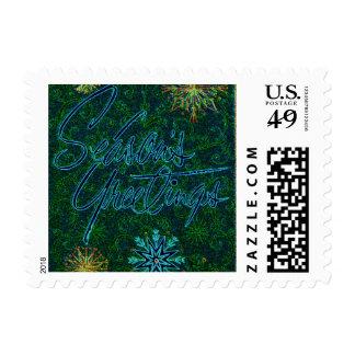 Vintage de los saludos de la estación sellos postales