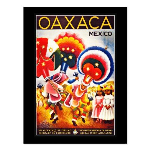 Vintage de los saludos de México de la postal