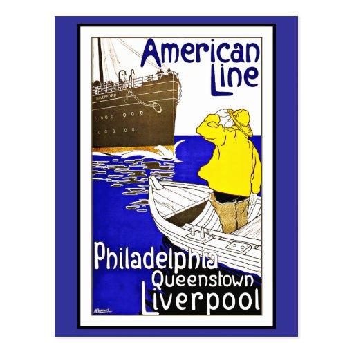 Vintage de los saludos de Philadelphia de la Postal