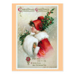 """""""Vintage de los saludos del navidad"""" Postales"""