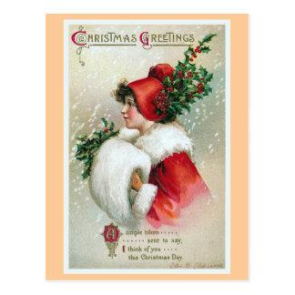 Vintage de los saludos del navidad postales