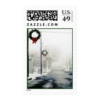 Vintage de los sellos encima del día de fiesta del