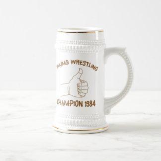 Vintage de lucha 1984 del campeón del pulgar tazas
