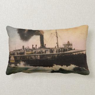 Vintage de Mackinac Great Lakes del trazador de lí Cojines