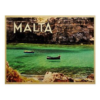 Vintage de Malta Tarjeta Postal