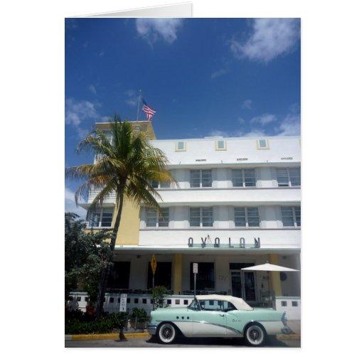 vintage de Miami Felicitaciones